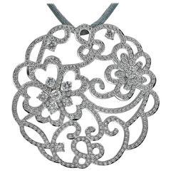 Van Cleef & Arpels Diamond White Gold Pendant