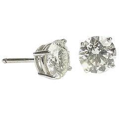 4.11 Carats Diamonds Gold Stud Earrings
