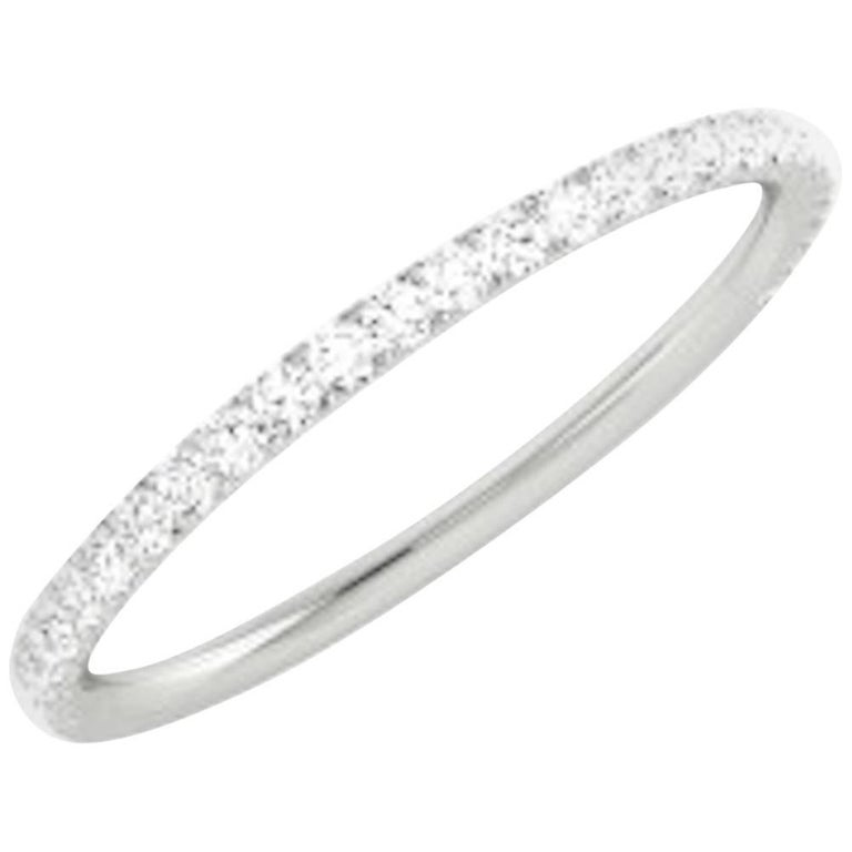 Contemporary Diamond and White Gold Wedding Ring For Sale