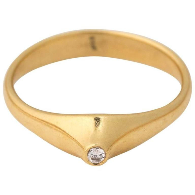 Tiffany & Co. Elsa Peretti Collection Diamond Yellow Gold Ring