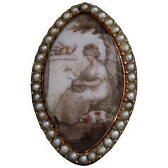 Georgian Sepia Miniature Ring