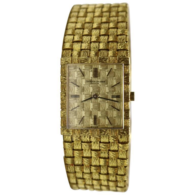 Vacheron & Constantin Dial Basketweave Wristwatch