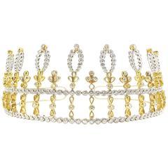 Chaumet Paris Duke of Westminster Forget-Me-Not Diamond Floral Design Tiara