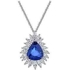 Magnificent 17.00 Carat Sapphire Diamond Necklace