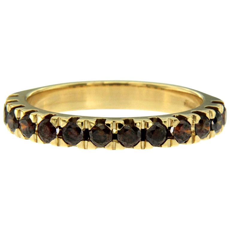 Colored Diamond Gold Band Ring
