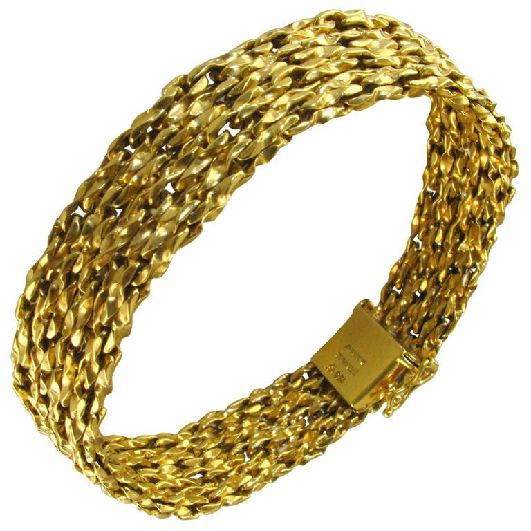 Tiffany & Co.  Yellow Gold Woven Bracelet