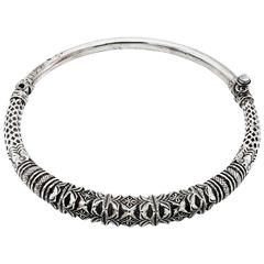 Detailed Sterling Silver Cuff Necklace from Thailand