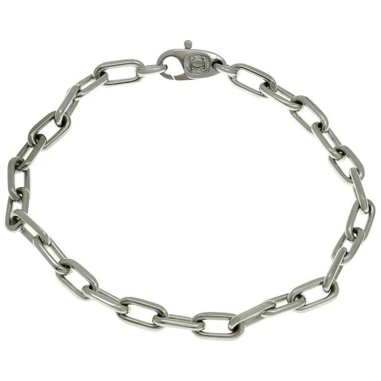 Cartier White Gold Link Chain Bracelet For