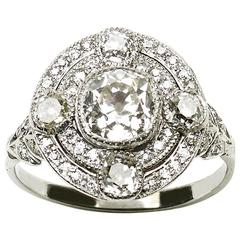 1920s Diamond Platinum Ring