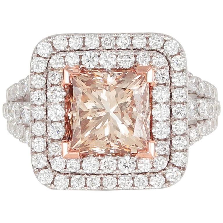 Frederic Sage 4.13 Carat Brown Diamond White Gold Ring