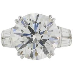 9.04 Carat GIA Certified Round Brilliant Cut Diamond Platinum Engagement Ring