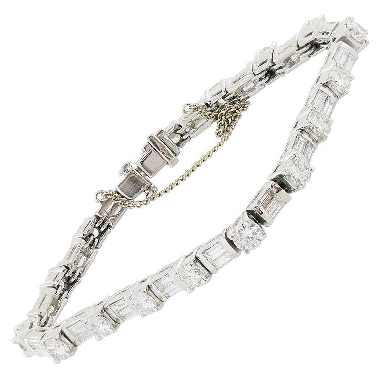 8.50 Carats Diamonds Platinum Bracelet