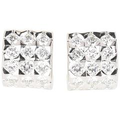Boucheron Diamond White Gold Ligne Ear Clips