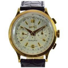 Eberhard & Co. Extra-Fort Yellow Gold Chronograph Wristwatch