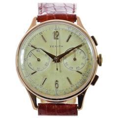 Zenith Vintage Rose Gold Chronograph Wristwatch