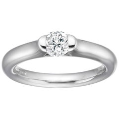 Diamond Solitaire, D Flawless, 0.17 Carat, UK Award Winning Designer