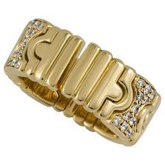 Bulgari Parentesi Diamond and Yellow Gold Ring