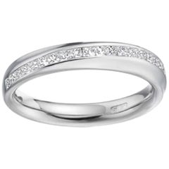 D Flawless Princess Diamond Wedding Eternity Ring, Platinum, UK Designer