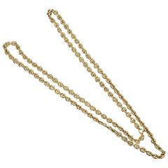 Gucci Long Gold Chain Link Necklace