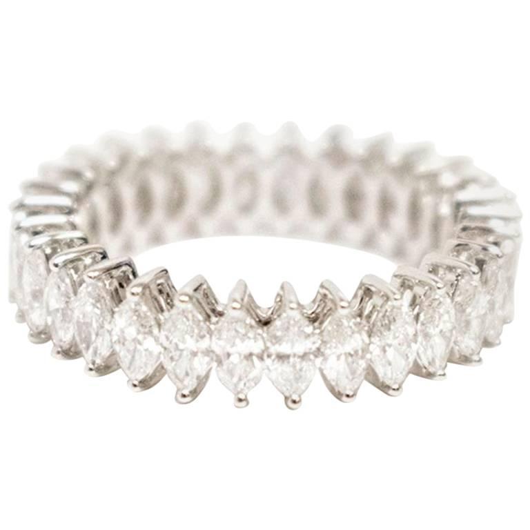 Bespoke White Gold Marquise Diamond Ring
