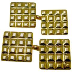 Cartier Gold Cufflinks, circa 1950
