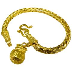 High Gold Braided Bracelet