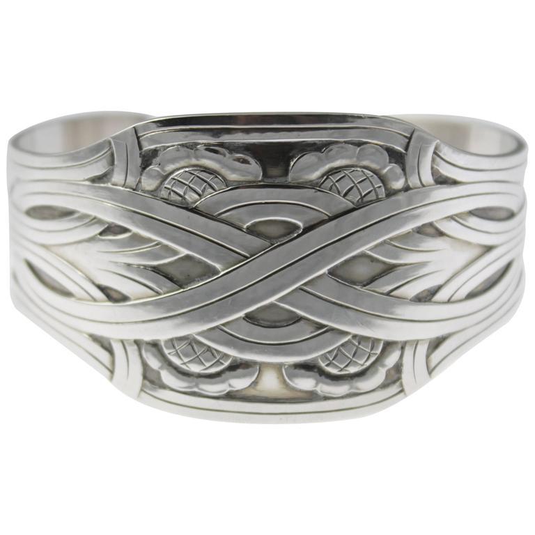 Georg Jensen Modernist Design Sterling Cuff Bracelet
