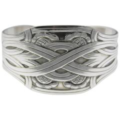 Georg Jensen Modernist Design Sterling Cuff Bracelet