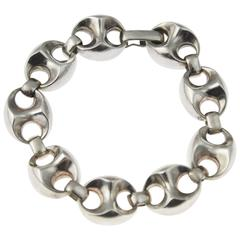 1970s Classic Silver Anchor Link bracelet