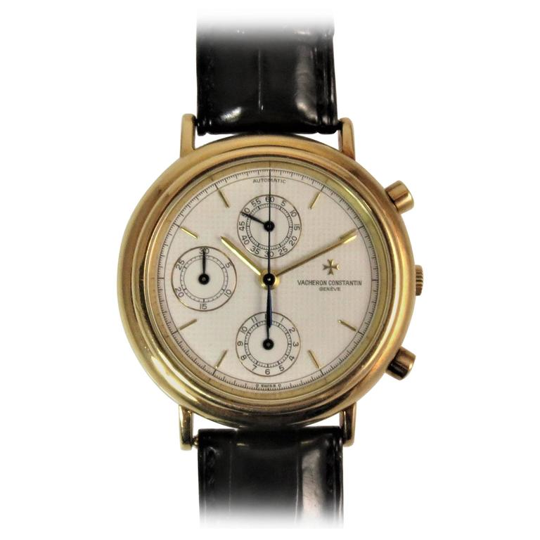 Vacheron Constantin Yellow Gold Chronograph Dial Automatic Wristwatch