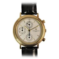 Vacheron Constantin Yellow Gold Chronograph Dial Automatic Wristwatch