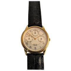 Mint Yellow Gold Piaget Automatic Strap Watch