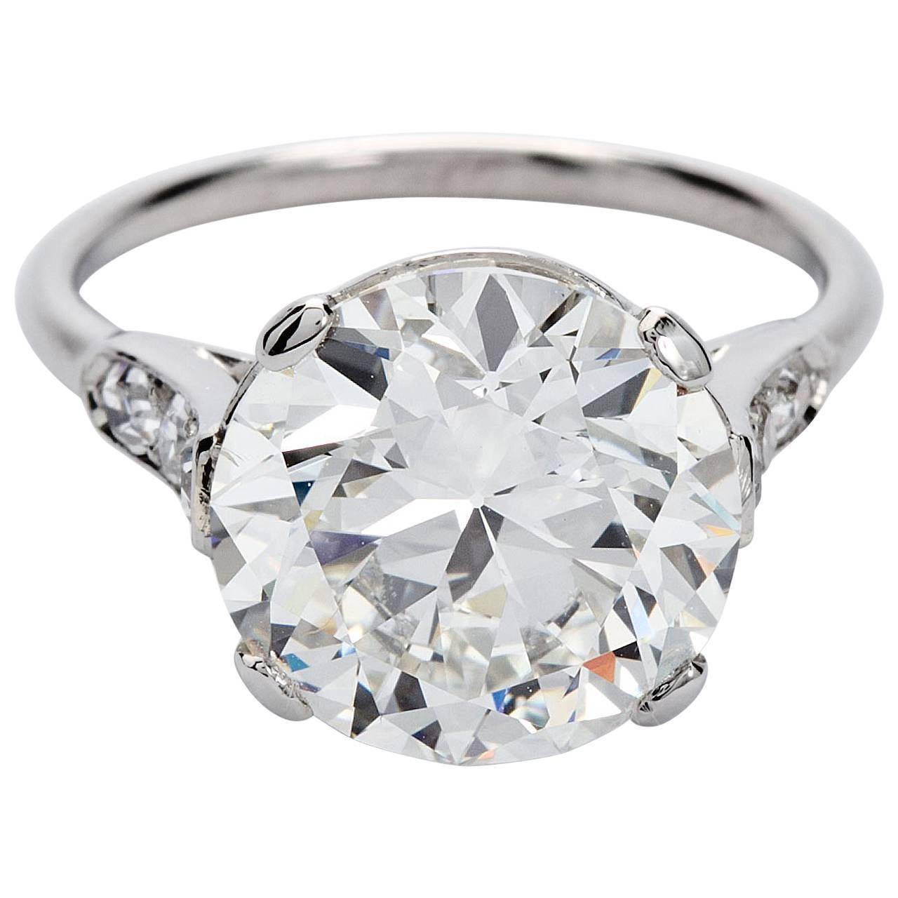 Art crafted engagement rings - Rare Art Deco Cartier Round Diamond Engagement Ring Gia Cert 4 Carat