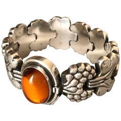Georg Jensen Amber Sterling Silver Paris Bracelet Design No. 30