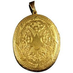Antique Victorian 18 Carat Gold Locket Large Locket