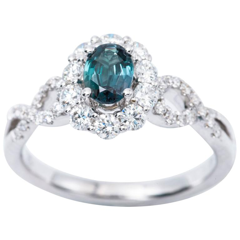 engagement rings custom diamond and ring alexandrite