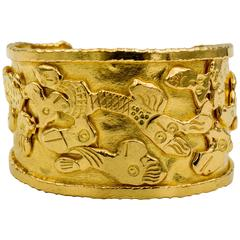 Jean Mahie Charming Monsters Gold Cuff Bracelet