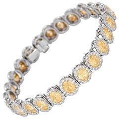 Diamond Gold Platinum Bracelet