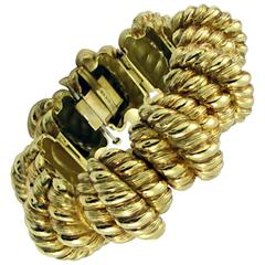 Hammerman Brothers Twisted Rope Gold Link Bracelet