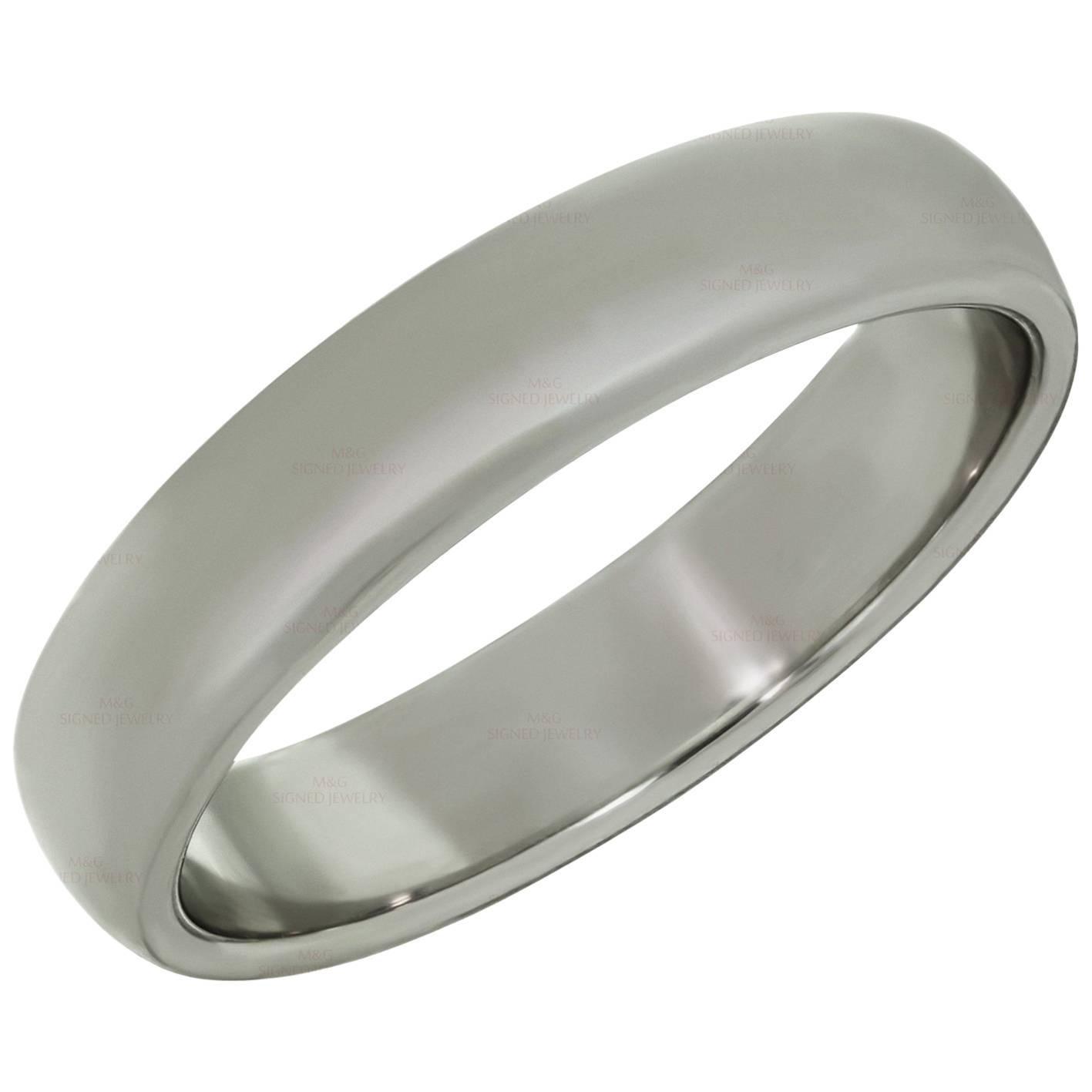 Tiffany & Co. Classic Platinum Wedding Band Ring