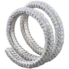 Andrew Fabrikant Spiral Diamonds White Gold Bracelet