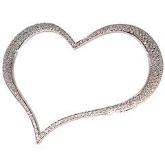 Piaget Diamond and White Gold Large Heart Pendant