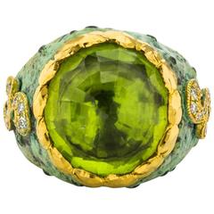 Victor Velyan Peridot Gold Ring