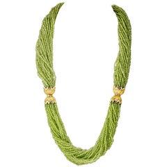 Tiffany & Co. Schlumberger Peridot Diamond Gold Necklace Bracelet Combination