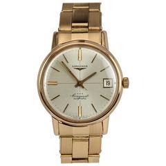 Longines Ladies Rose Gold Conquest Calendar Manual Wind Wristwatch, circa 1967