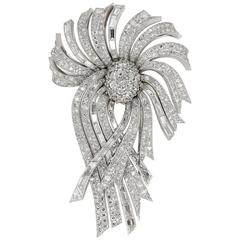 LaCloche Paris Diamond Gold Platinum Day Night Brooch