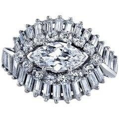 Oscar Heyman Diamond Platinum Engagement Ring