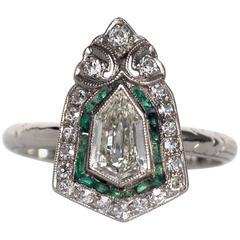 1920s Art Deco .85 Carat Diamond Platinum Engagement Ring
