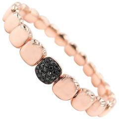 black Diamond Rose Gold Bracelet