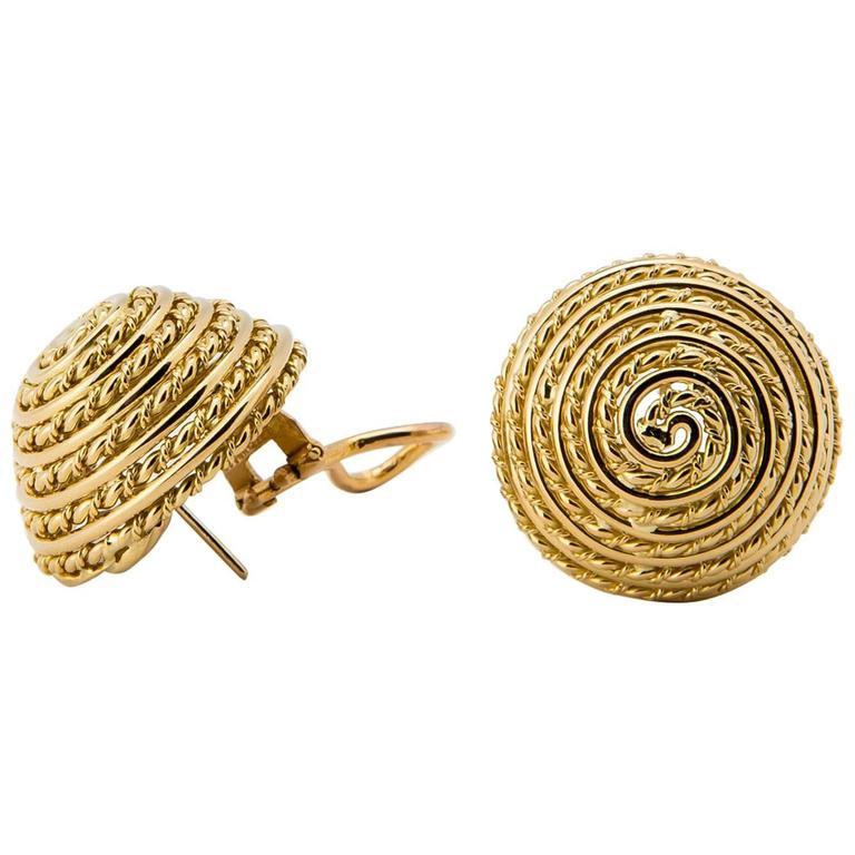 Tiffany & Co. Gold Dome Earrings